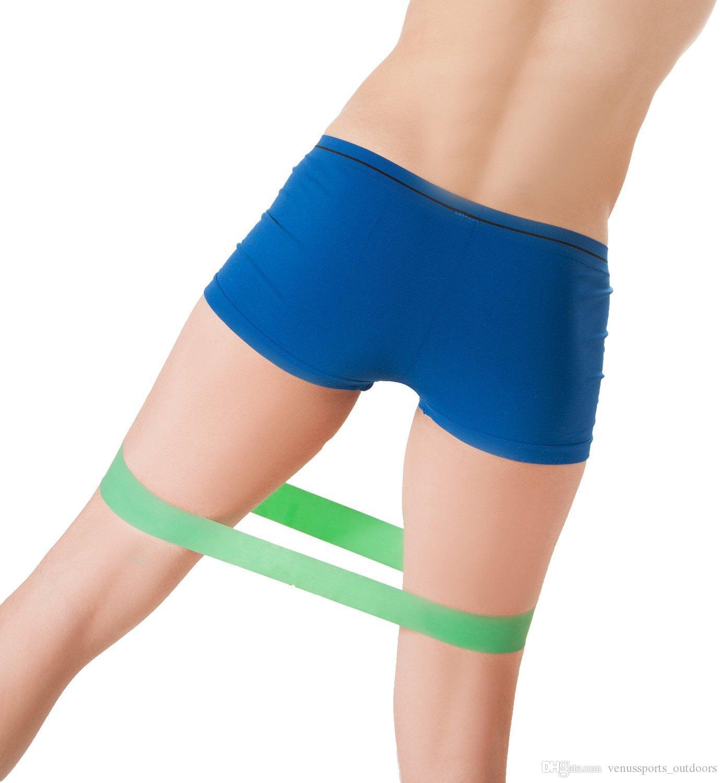100% natural látex resistência banda loop body building fitness exercício de alta tensão muscular ginásio em casa para o tornozelo perna musculação