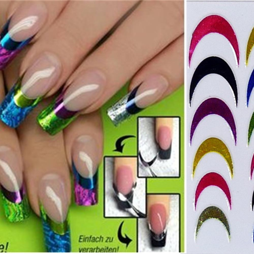 Foil 1sheets 3d Diy Designs Hot Fashion Colorful Art French Tips