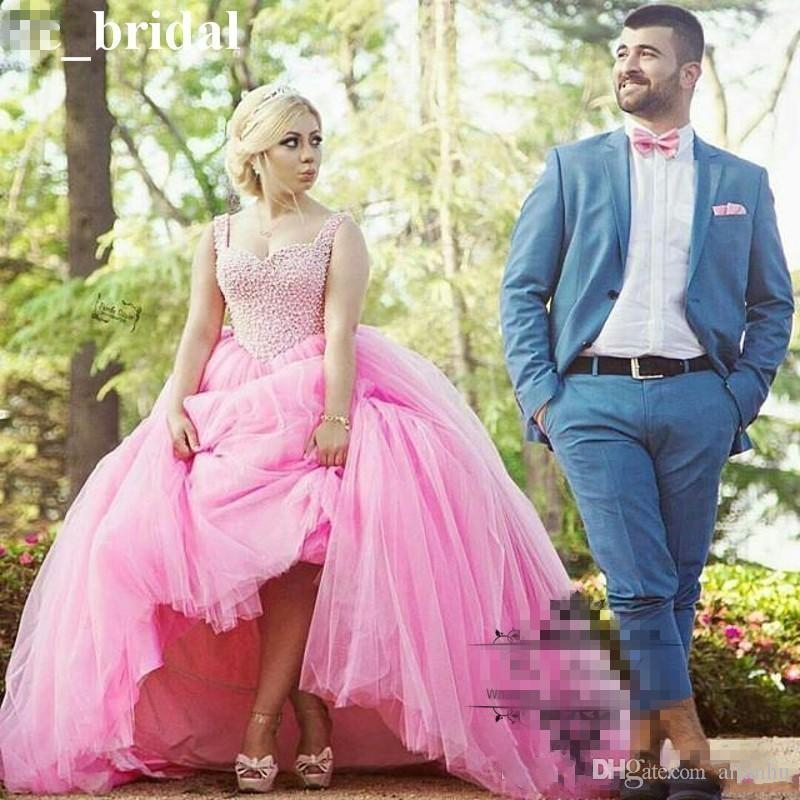 2018 Pink Ball Gowns Quinceanera Dresses Spaghetti Straps Prom Gowns Beads Crystals Lace Up Back vestidos de 15 anos Sweet 16 Dresse