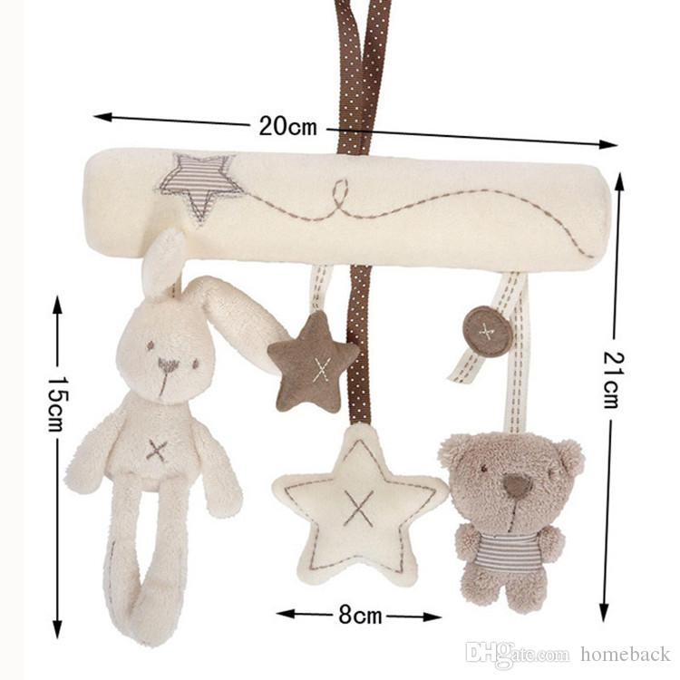 Rabbit Toys Baby 0-12 Months Newborn Baby Mobile Musical Stroller Toys Kids The Bed Bell Bear Plush Stuffed Baby Crib Rattle Toy