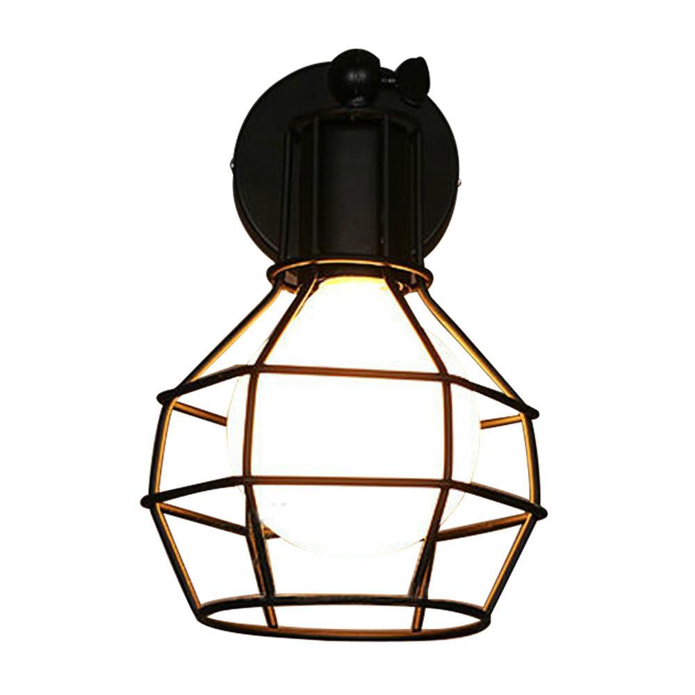 Acheter Lampe Murale Vintage Country Américain De Lu0027industrie Style AC E27  Lampe De Chevet Applique Murale En Fer Éclairage Industriel Intérieur De  $51.76 ...