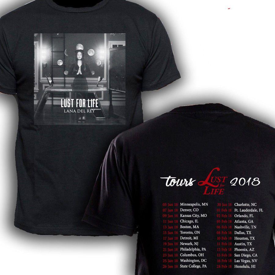 Awesome Shirt Designs Crew Neck Men Short Design Lana Del Rey Lust