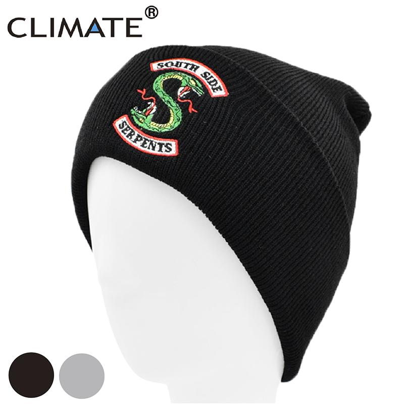 Acquista CLIMATE Snake Riverdale Hat Beanie South Side Serpents Beanie Uomo  Winter Hat Snake Black Warm Knit Berretti Neri Uomo A  35.11 Dal Gqinglang  ... e326fe7bf174