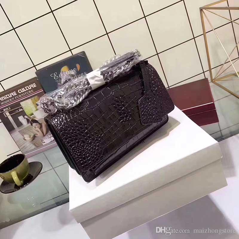Дизайнер сумки Крокодил pattern роскошные Y Марка мода сумки сумки женщины cluth messenger плеча crossbody messenger сумка