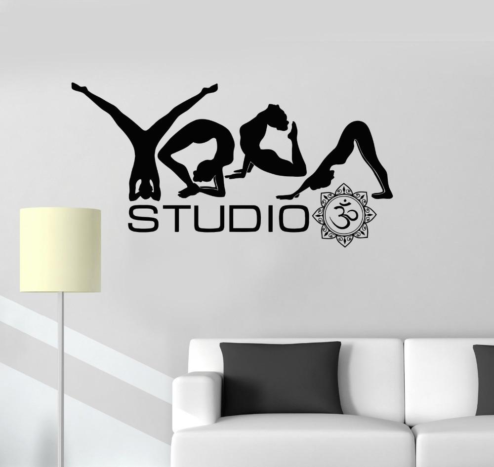 Yoga Studio Poses Word Buddhism Meditation Wall Stickers For Living