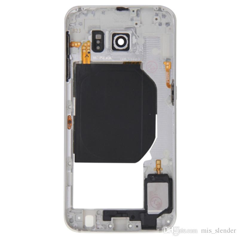 Checked For Samsung Galaxy S6 G920 G920F G920P G920A/V/W/T/U/R/S/K/L Middle frame Rear Housing Midframe Bezel Chassis Plate DHL Free