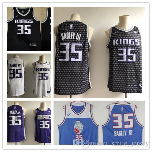new products 43ee9 4b475 2019 New Mens 35 Marvin Bagley III Sacramento Jersey Sacramento Basketball  Jerseys Stitched New City Edition Marvin Bagley III Jerseys