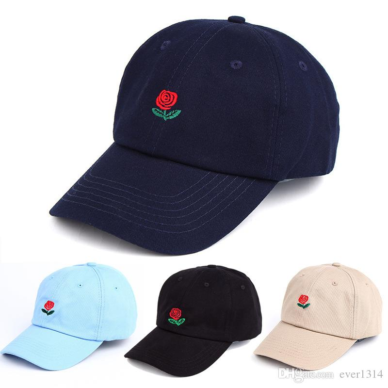 2836b3a2a45 HOT Fashion Rose Baseball Cap Gorras Caps for Men Women Cheap Mens  Casquette Sports Hip Hop Flat Sun Snapback Hats Wholesale Rose Baseball Cap  Snapback Hats ...