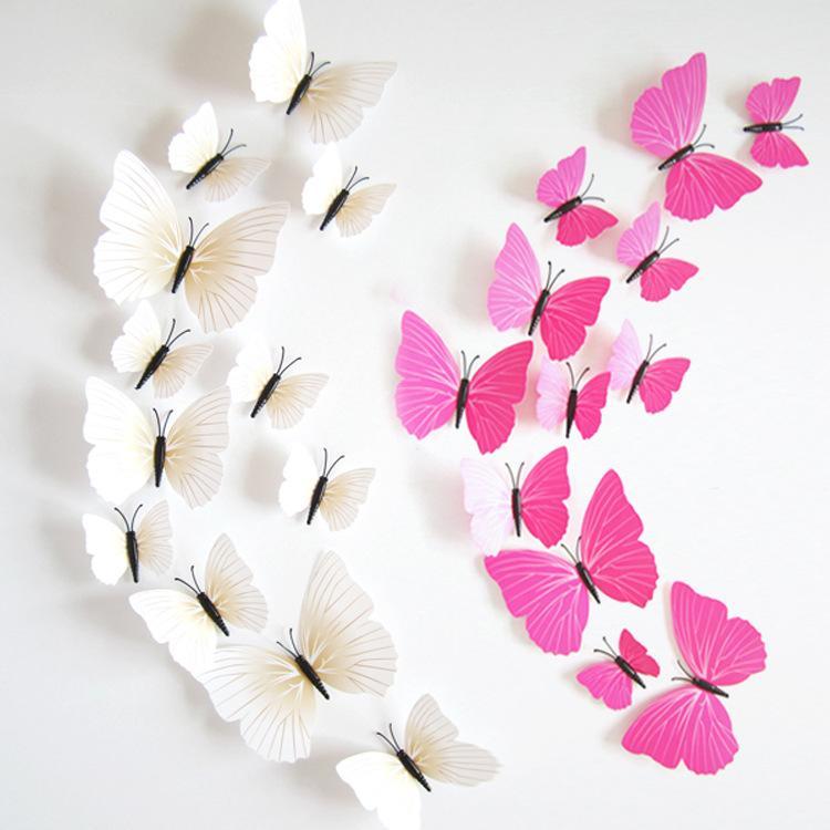 Großhandel Heißer Verkauf 3D Schmetterling Wand Decals6big + 6 ...