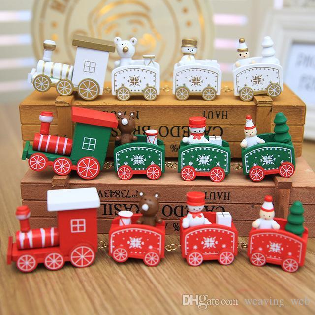 Weihnachtsgeschenk Weihnachten.Holz Zug Dekor Weihnachtsgeschenk Weihnachten Zug Dekoration Dekor Geschenk Mini Weihnachten Modell Fahrzeug Spielzeug Für Kinder