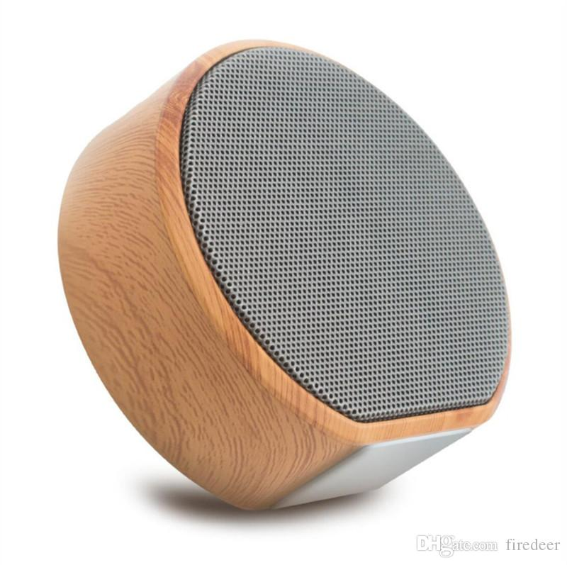Mini Bluetooth Speaker good quality wood grain Portable Wireless Subwoofer for Stereo Radio TF Card Hands-free Calling Speakers