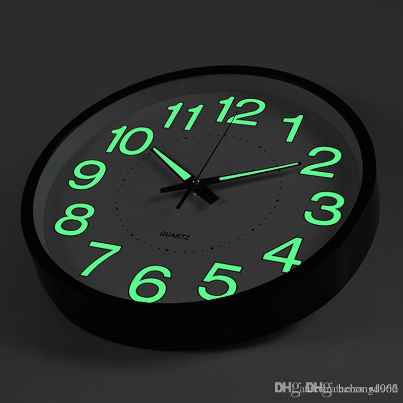 6559bf20f76b Compre Reloj De Pared Luminoso Luz De Noche Cuarzo Hombre Mujer Dormitorio  Sala De Estar Relojes Sencillos Decoración Para El Hogar Regalos Creativos  19hs ...