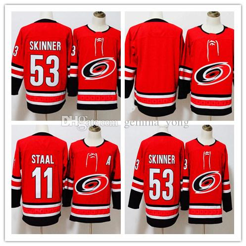 2018 2018 new carolina hurricanes ice 53 jeff skinner 11 staal hockey jerseys red white alternate ch