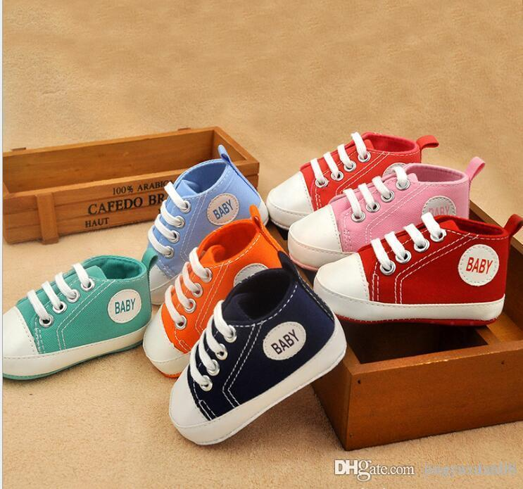 cfb1d270164e Baby Shoes Casual Fashion Soft Soles Toddler Shoes Children S Shoes Men  Women Baby Spring And Autumn Size 11-14 Size Baby First Walkers Shoes  Canvas Shoe ...