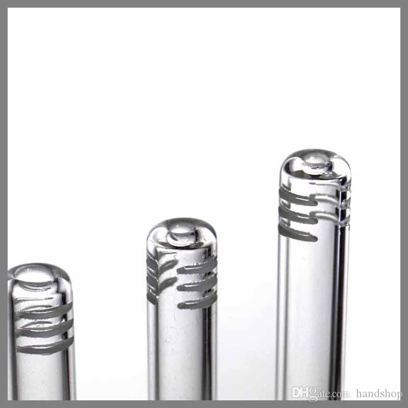 Оптовая стекло downstem диффузор / редуктор 18,8 мм CC-01 стекло вниз трубки стержня 2,5 дюйма до 6,5 дюйма с 6 порезов