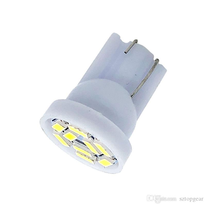 T10 9 SMD 3014 Led W5W 194 168 Car Parking Light Reading Bulbs Auto License Plate Indicator Lamps DC 12V White