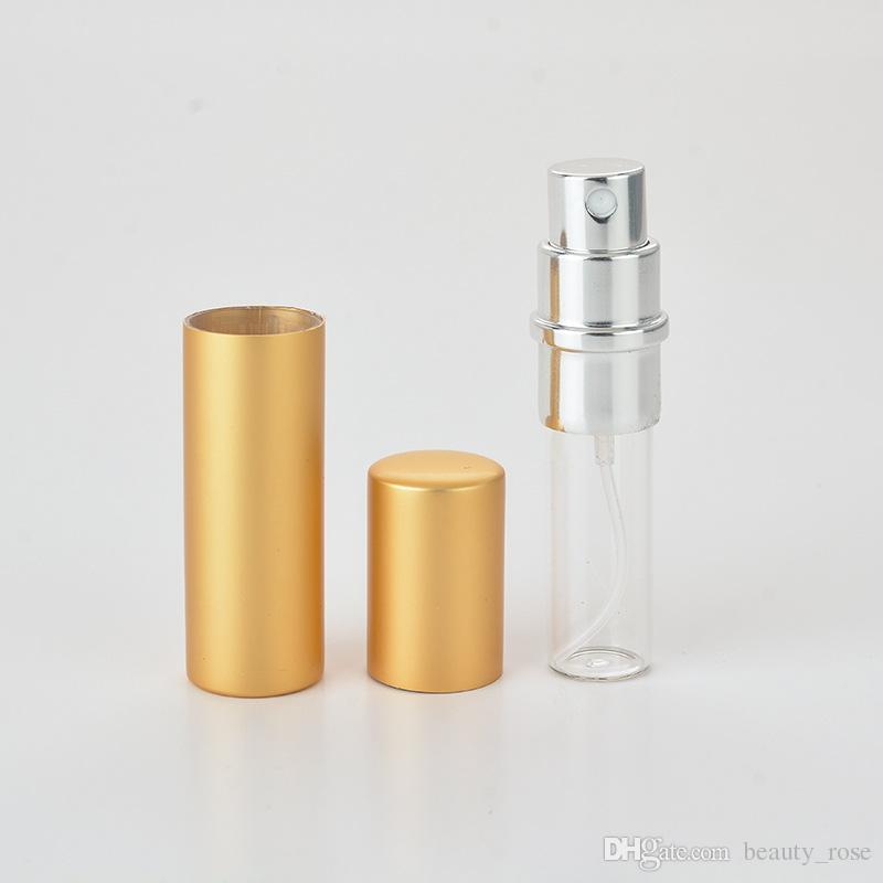 5 ml mini portátil perfume recargable atomizador botella de spray colorido botellas de perfume vacías botella de perfume de moda envío libre de DHL