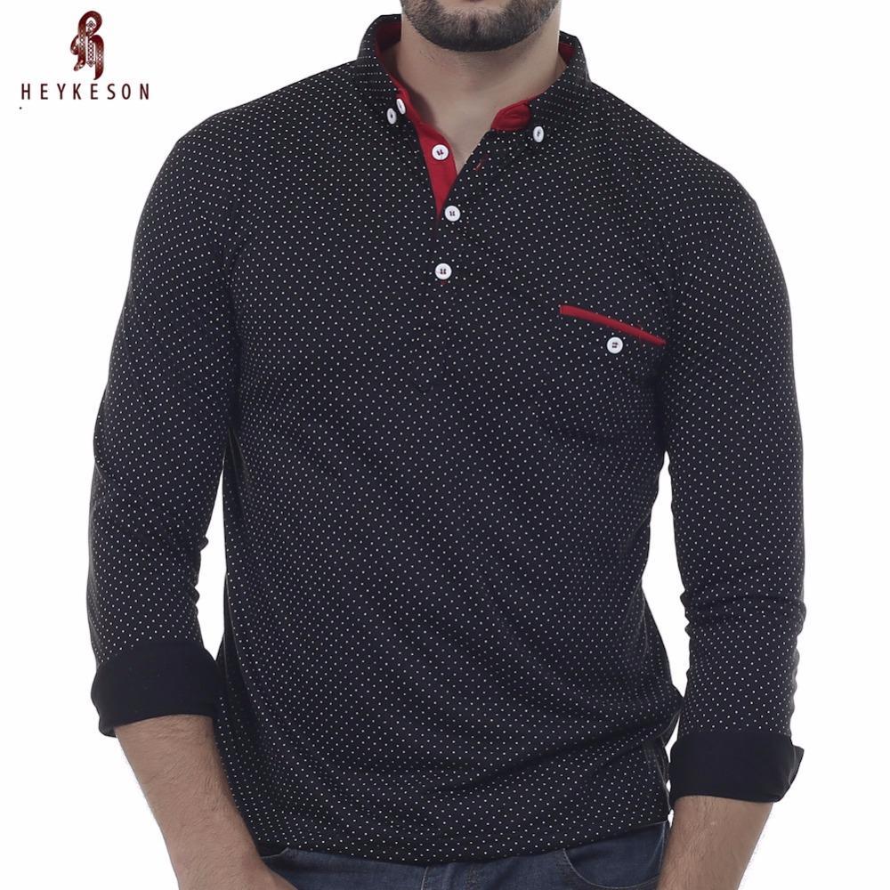 Heykeson Mens Polo Shirt Brands 2018 Male Long Sleeve Fashion Casual