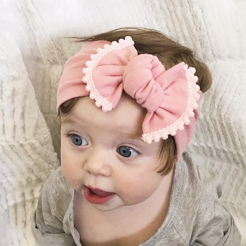 Hair Accessories Baby Kids Girl Aqua Floral Headband Bow Knot Headdress Elastic Turban Headwrap Rabbit Ears Fashion Hair Band Accessories