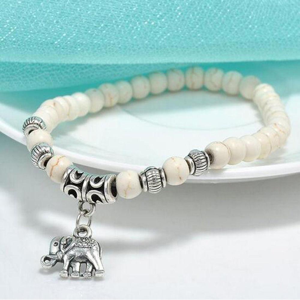 Großhandel Neue Mode Tibetischen Tibet Silber Elefant Anhänger Weiß