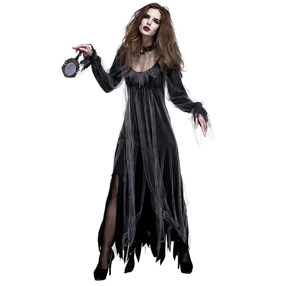 Großhandel Halloween New Horror Deluxe Friedhof Braut Kostüm