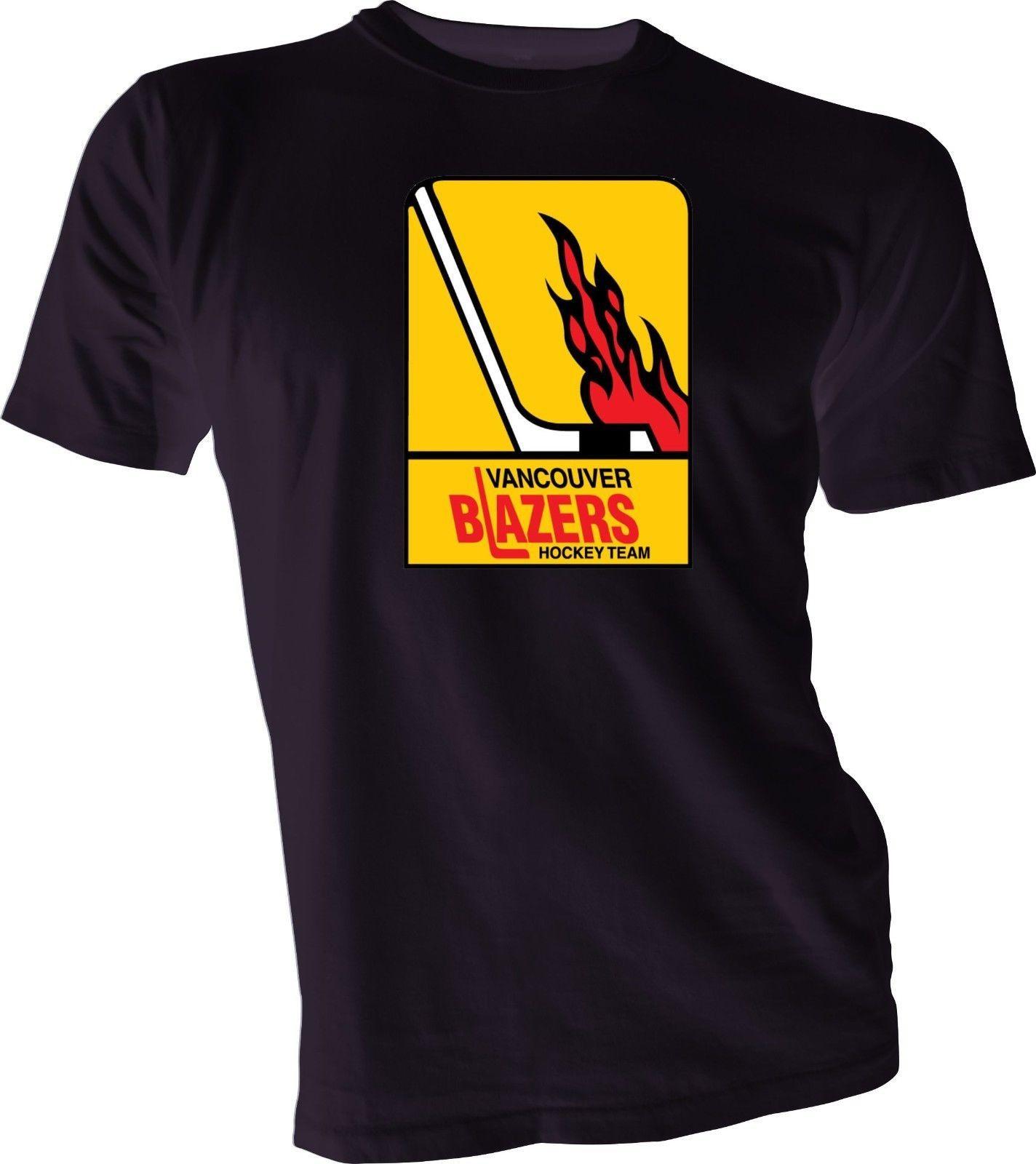 Vancouver Blazers Defunct Wha Hockeyer Vintage Style Black T Shirt
