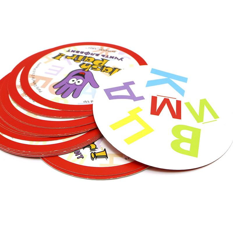 2018 hot board game Flash Pair Russian alphabet spot it family play for ages 5+ spot to learn it basic word study cards game