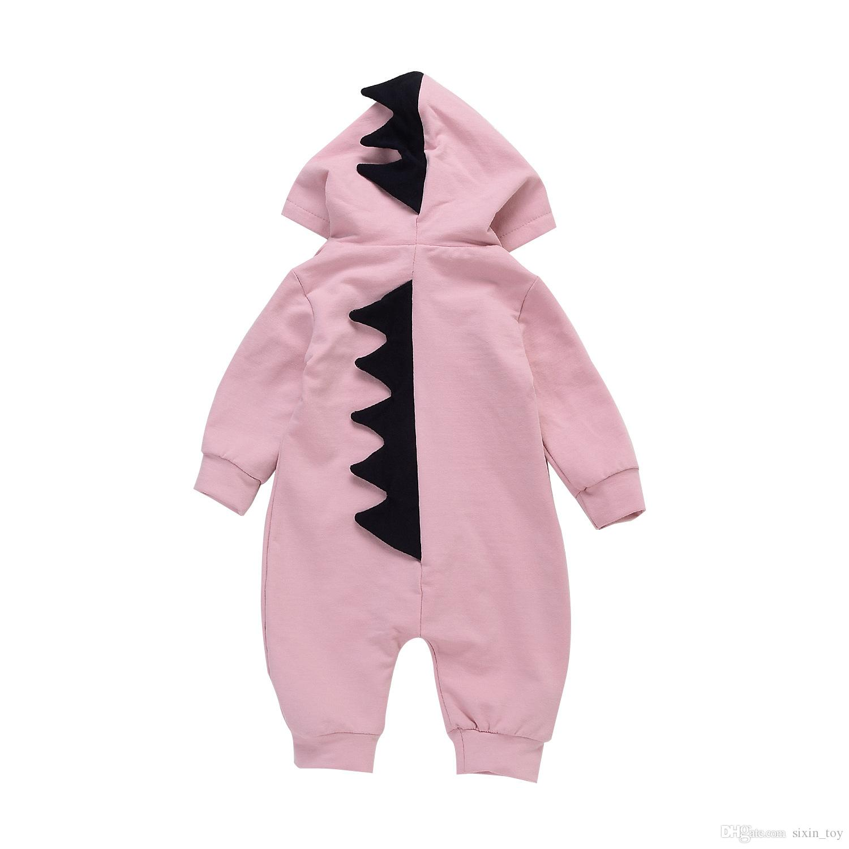 Baby Dinosaurier Strampler Ins Baby Outfits Langarm Jungen Mädchen Mit Kapuze Outwear Overalls Strampler Baby Kleinkind Kleidung Strampler Spielanzug