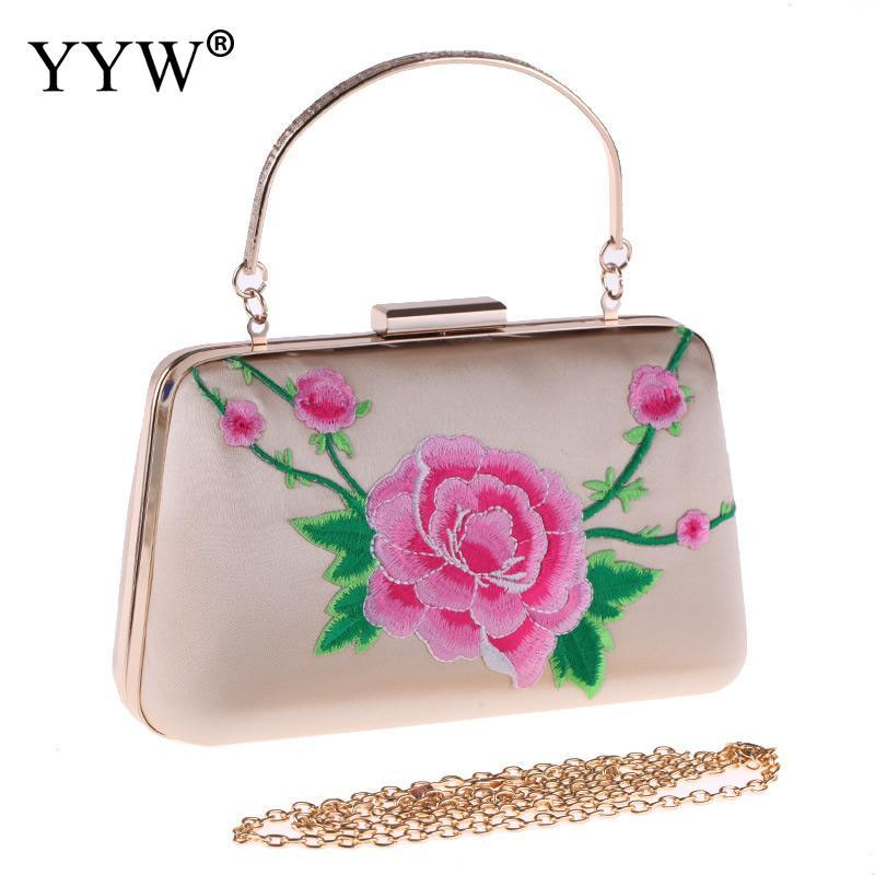b7629cdc83dab Vintage Handbags For Women Bags Designer Lady Chain Crossbody Evening Party  Flower Clutch Purse Bag Female Handbag Clutches 2018 White Clutch Expensive  ...