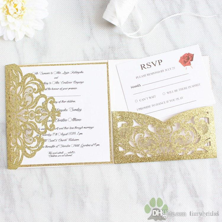 cheap hollow flower bridal invitation card unique laser cut wedding invitations cards gold personalized blank inner custom printed cheap wedding shower