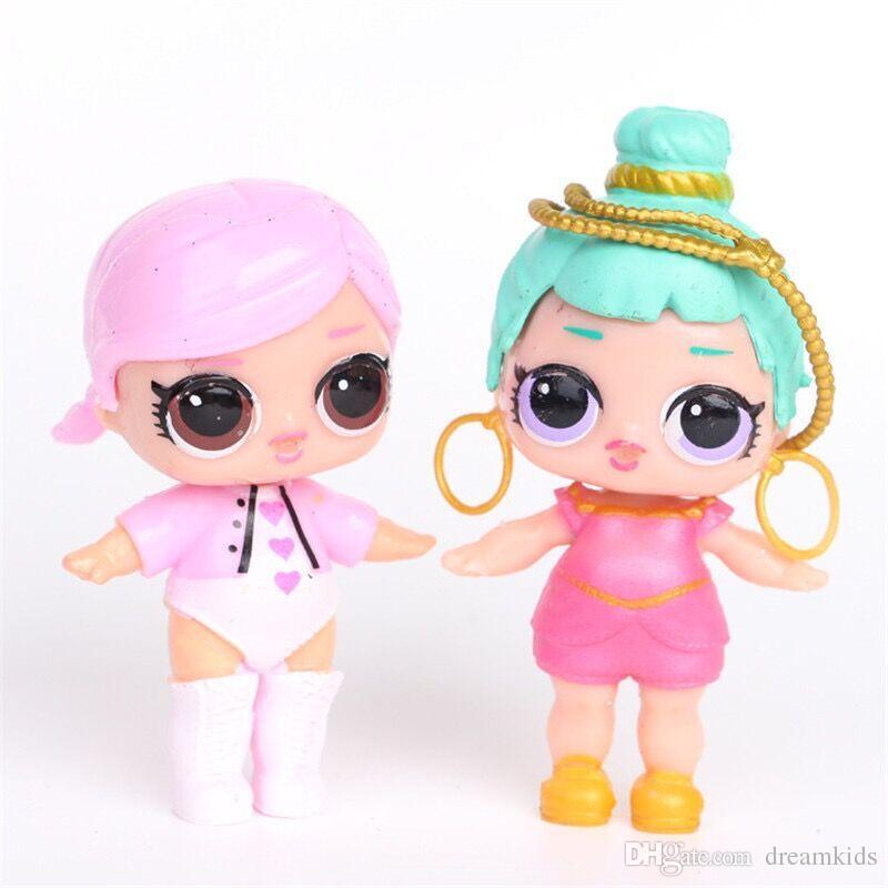 8 unids LoL Muñeca Desembalaje Muñecas de Alta Calidad Bebé Tear Cambio de Color Abierto huevo niñas Muñeca Figura de Acción Juguetes Regalo de los niños