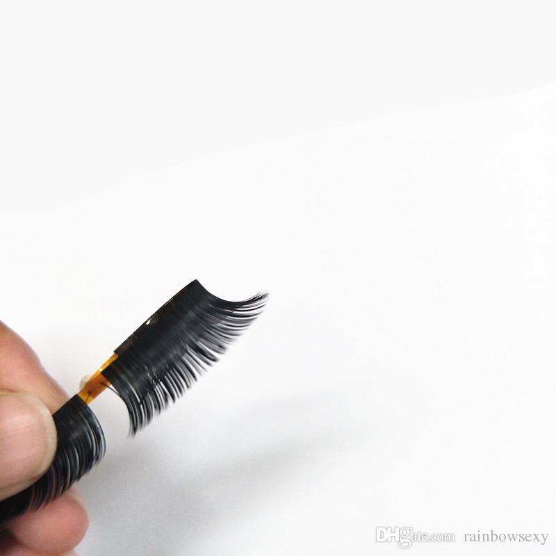 2018 Seashine hot sale new arrived Flat Ellipse Eyelashes Extensions split tips, natural light false eyelashes thickness