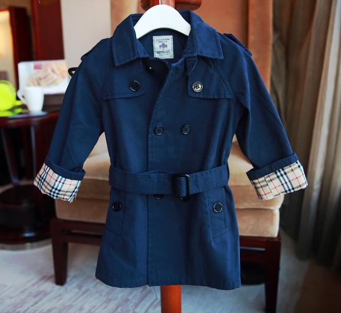 23a5442fa143 Boys Trench Coat Autumn Children Long Coat Kids Blazer Cotton ...