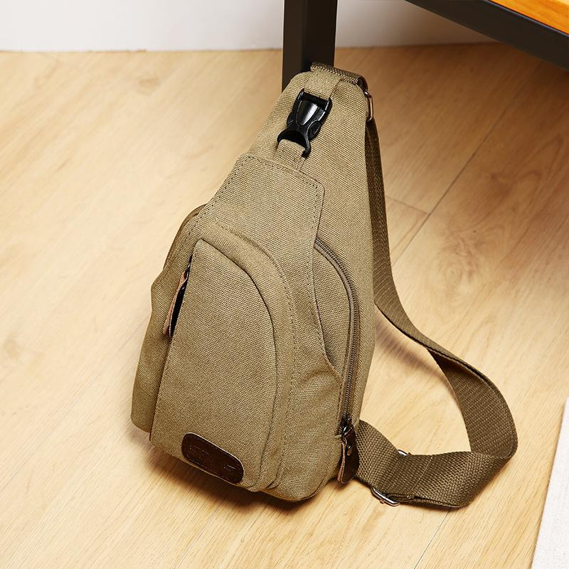 Top Chest Backpack Chest Bag Men Canvas Casual Men S Shoulder Messenger Bag  Retro Small Backpack Korean Version Of The Tide Messenger Bags Laptop Bags  From ... 1b3ace464be80