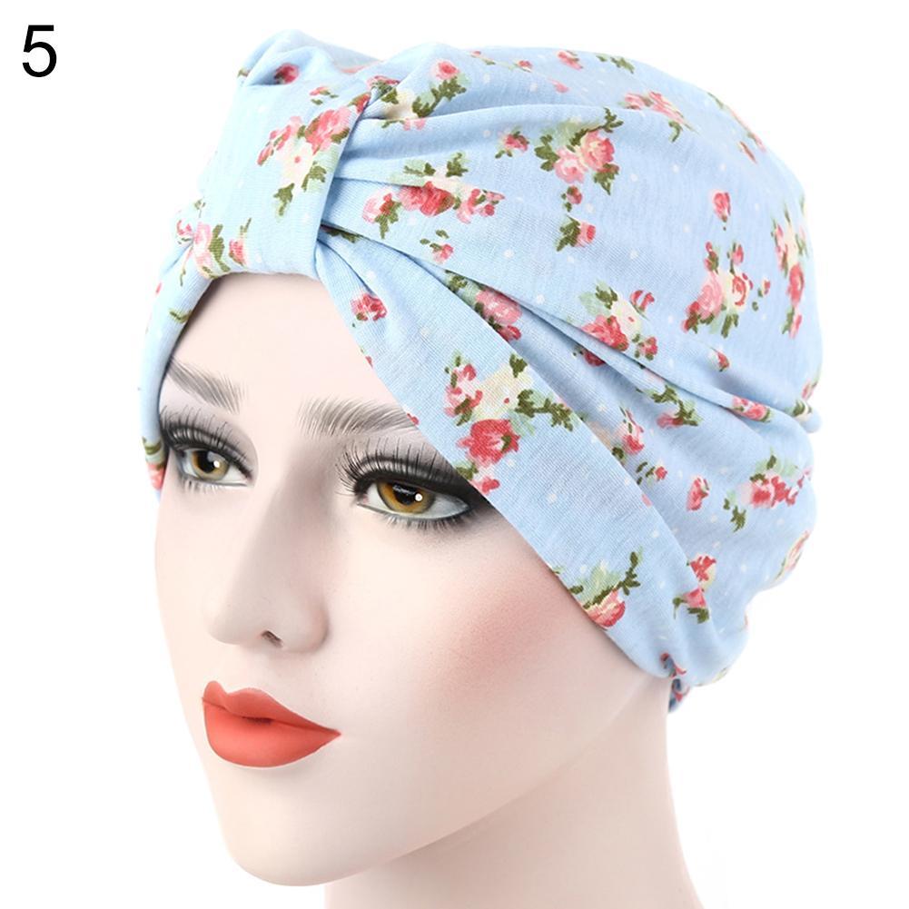 bbf7094f9a3 Women Muslim Stretch Turban Hat Cancer Chemo Cap Hair Loss Head Scarf Cover  Beanie Caps Slouchy Beanie Crochet Pattern From Fashionable16