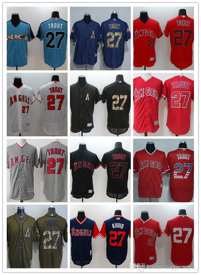 9974dfb91 2019 Custom Men Women Youth LA Angels Jersey #27 Mike Trout Home Red White  Baseball Jerseys From Tenplus, $21.72   DHgate.Com