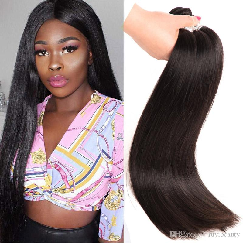 Peruvian Human Hair 30 40inch Remy Virgin Hair Weaves Straight Natural  Color Hiair Products Double Wefts Curly Human Hair Weave Remy Human Hair  Weave From ... 066d3c20711d
