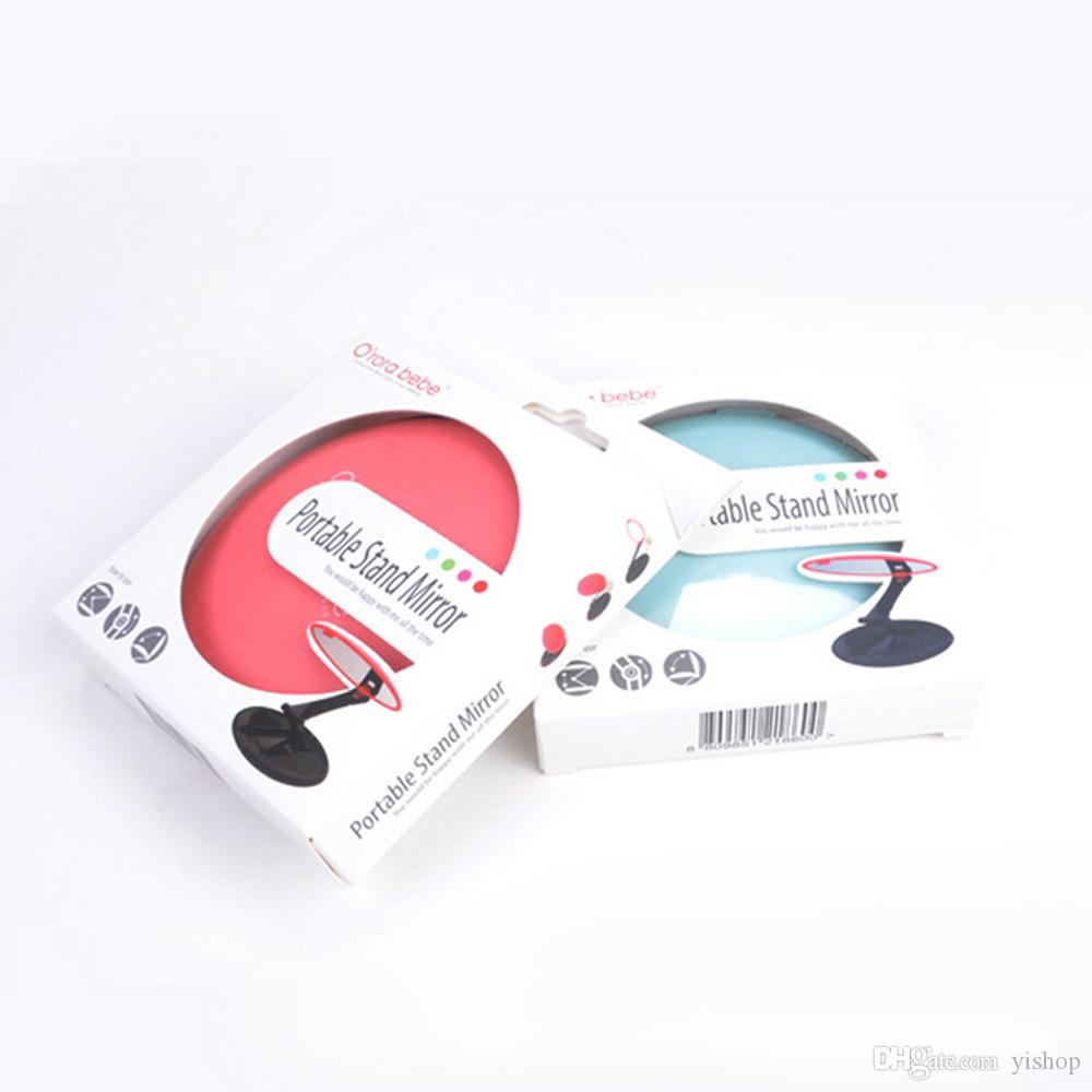 New Fashion Creative Fold Away Make Up mini Mirror Cosmetic Folding Portable Compact Pocket Mirrors Make Up Cute lady Travel Mirror