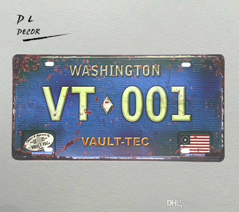 "DL-BLUE ""VT001"" highway License plate Vintage Tin sign home decoration accessories"