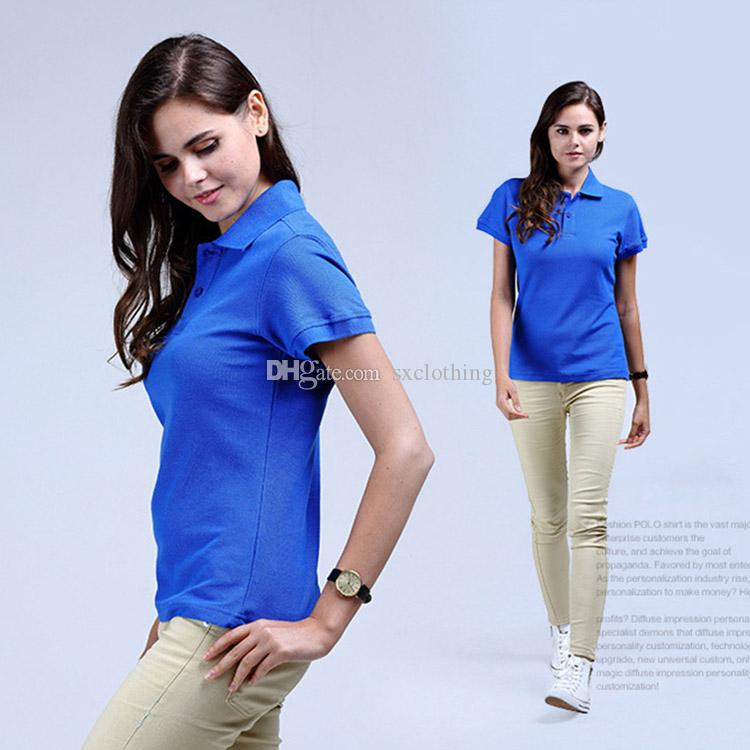 759c815fedb 2019 Wholesale Short Sleeve Round Neck 100% Cotton Mens Golf Polo Shirts  Customized Logo From Sxclothing