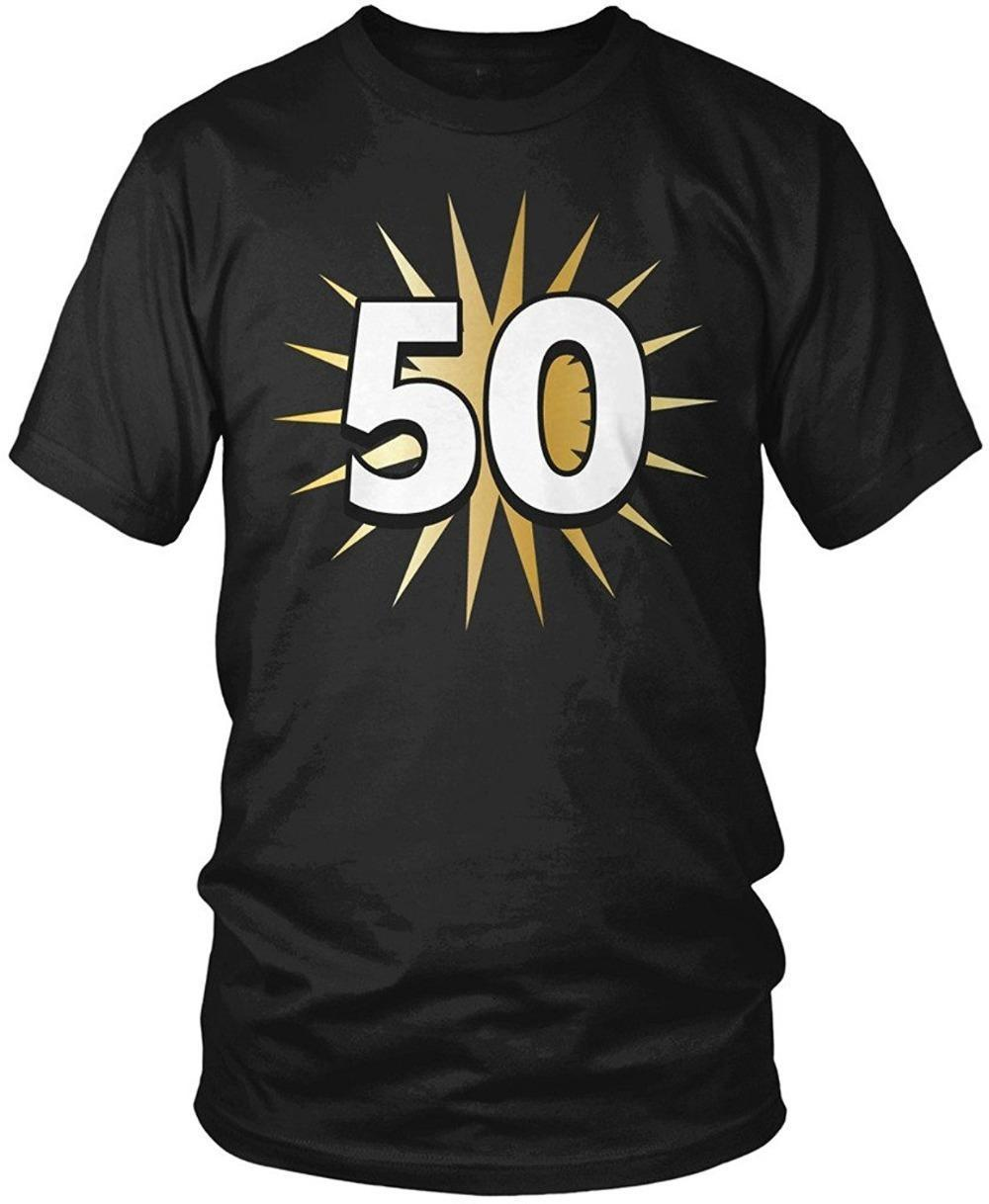 Personalized Shirts Short Sleeve Gift 50Th Birthday Shirt 50 Years Old Fiftieth Men S T Crew Neck For