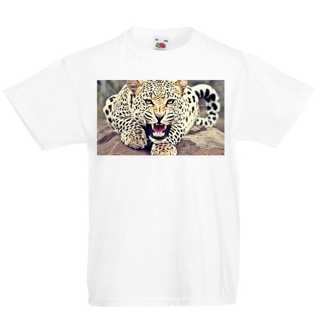 Leopard Kid's T-Shirt Children Boys Girls Big Cat Unisex Top Classic Quality High t-shirt Style Round Style tshirt
