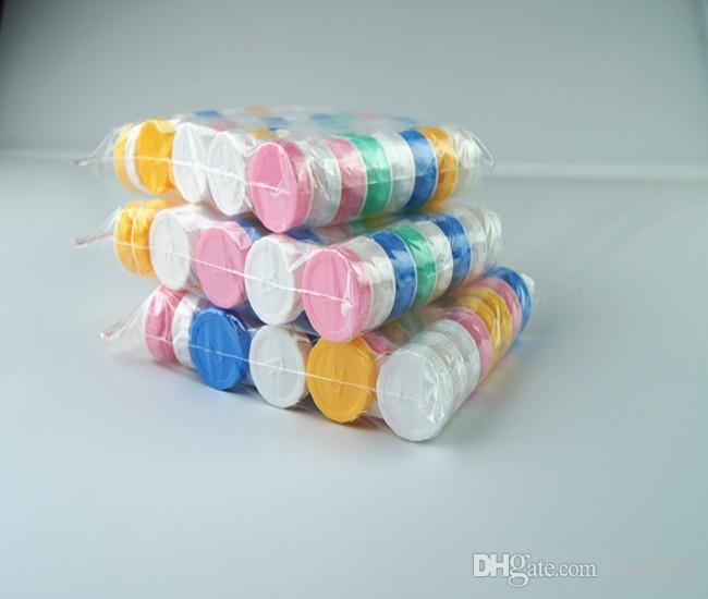 2500 pares Lente de Contato Caso adorável Colorido Dual Box Duplo Caso Lente Embalagem Caixa De Caixas De Armazenamento Frete grátis frete grátis