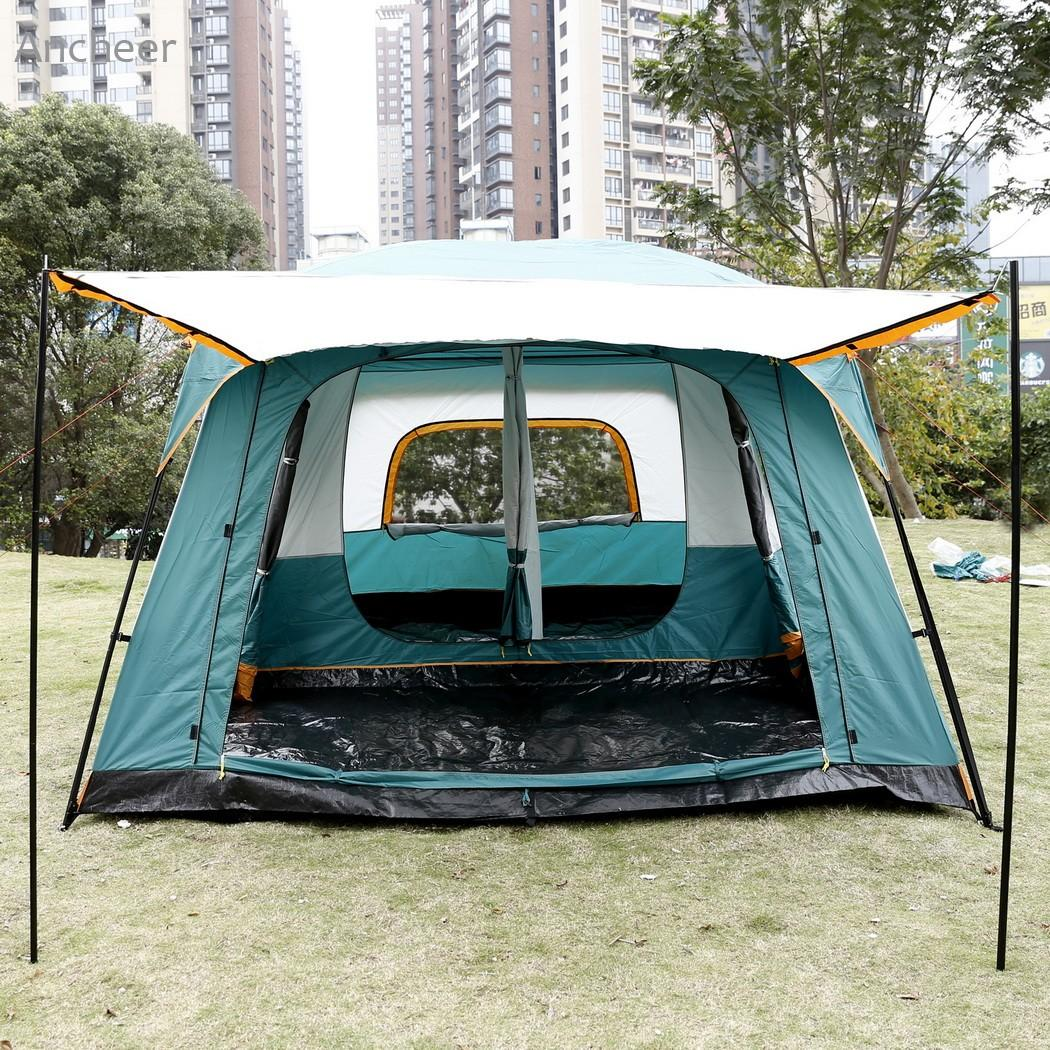 Ancheer New High Quality C&ing Tent 8 Person 2 Bedroom 1 Living Room Outdoor C&ing Hiking Tent With Rainfly Shelter Green Family Tents For C&ing Party ... & Ancheer New High Quality Camping Tent 8 Person 2 Bedroom 1 Living ...