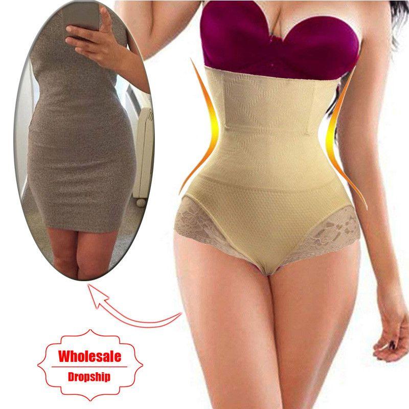 87f28e49ce 2019 NINGMI Tummy Control Panties Seamless Butt Lifter Women High Waist  Trainer Dress Corrective Underwear Body Shaper Slimming Pants From Songzhi