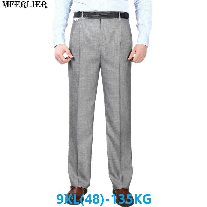 MFERLIER Men Suit Pants Trousers Large Size Big 7XL 8XL 9XL 44 46 48 42  Autumn Summer Loose Formal Business Straight Pants Black UK 2019 From  Benedica f2c764ecbd7e