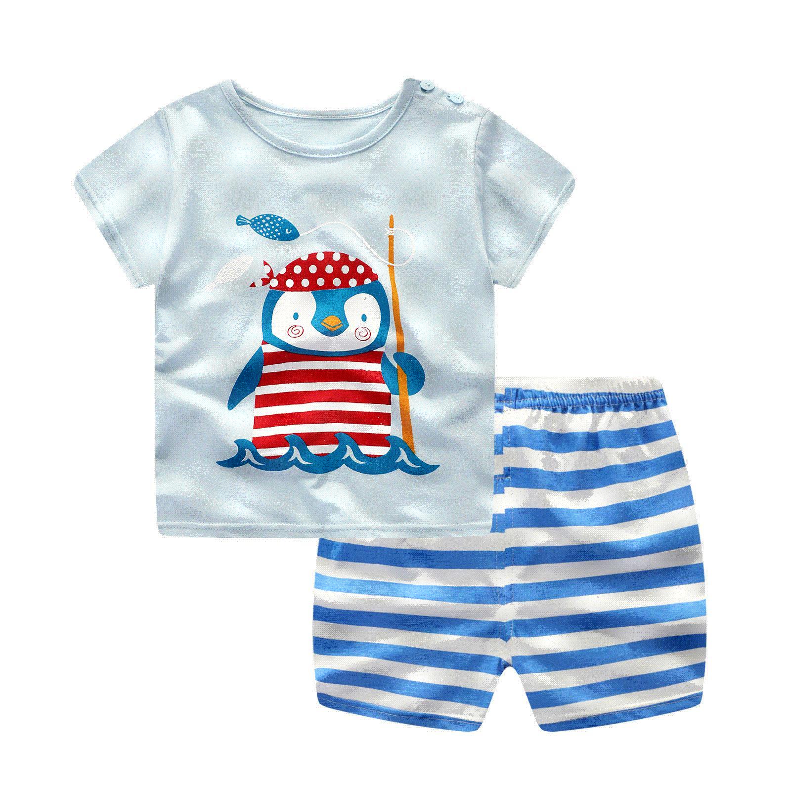 2018 Fashion Baby Boy Sport Set Striped Infant Boy S Clothing Set