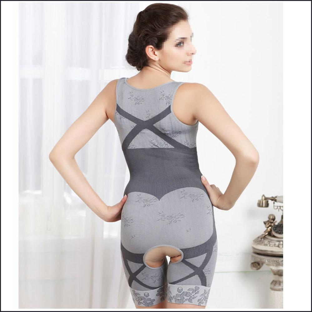 Fashion Women Bamboo Charcoal Sculpting Body Slimming Underwear Shapewear Intimates Corsets Shaper Suits