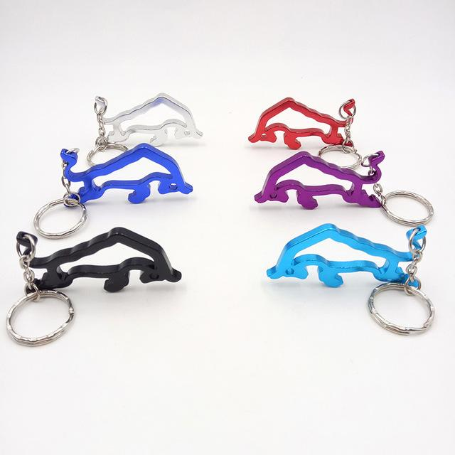 10pcs/lot Creative Stylish Wine Beer Bottle Opener Outdoor Edc Metal Ox Bull Shaped Ring Key Chain Portable Kitchen Accessories
