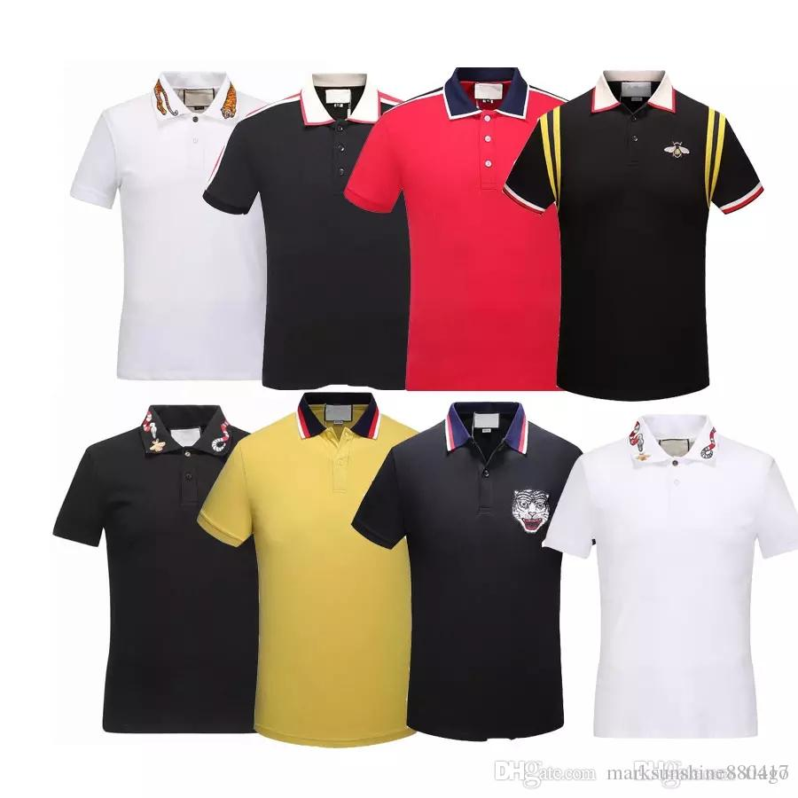 2019 Hot Sale Italy Designer Polo Shirt Luxury Brand T Shirts Mens